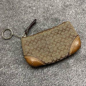 Coach mini signature coin purse